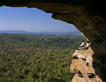 """The Window"" at the cave site of Bhim Bhetka | Photo: Sendhil Solai"