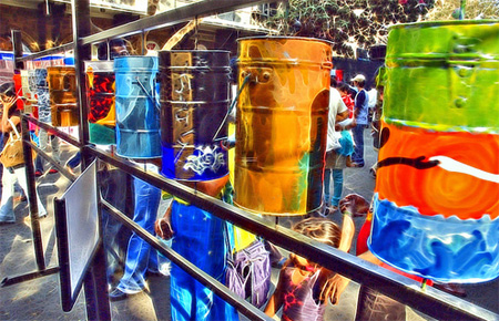 Art with Tiffin Boxes | Photo: Humayunn N A Peerzaada
