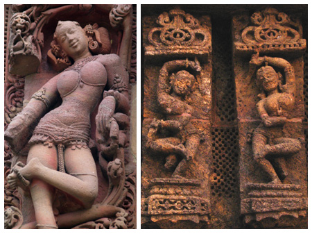 Sculptures from the Sun Temple of Konark and other temples of Bhubaneshwar | Photo: Anindya Karmakar