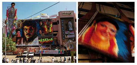 Putting up posters and cutouts   Photo: Joseph Khakshouri