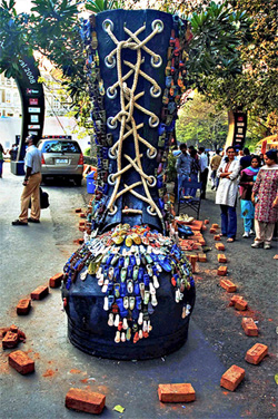 Installation at Kala Ghoda Art Festival | Photo: Humayunn N A Peerzaada