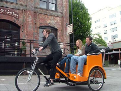 A Pedicab (Rickshaw) in USA | Courtesy: bikeportland.org